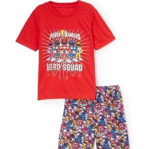 NWT Saban's Power Ranger Hero Squad Pajamas